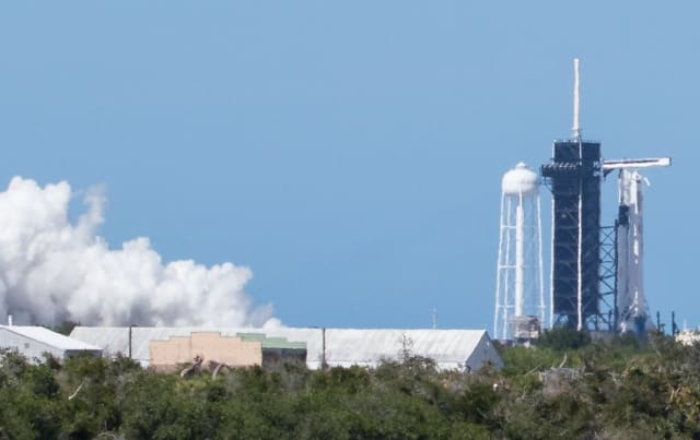 SpaceX Demo-2 test fire