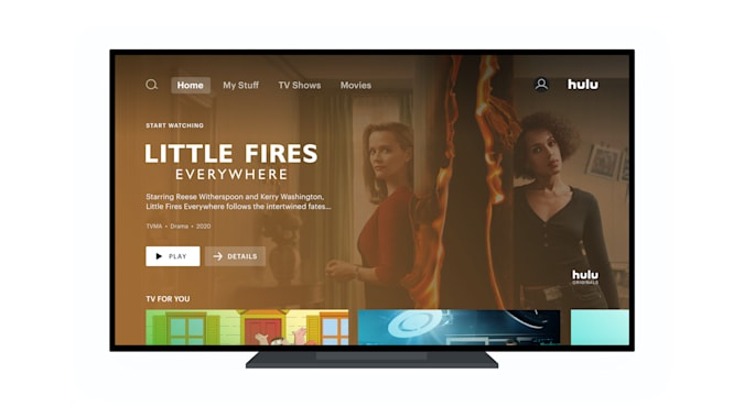 Hulu home page UI update