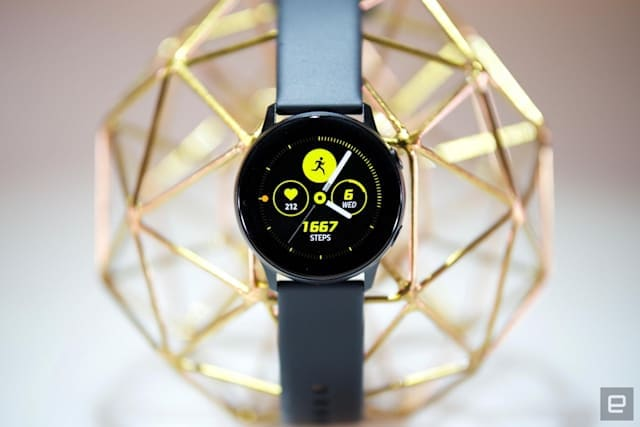 Samsung Galaxy Watch Active smartwatch.