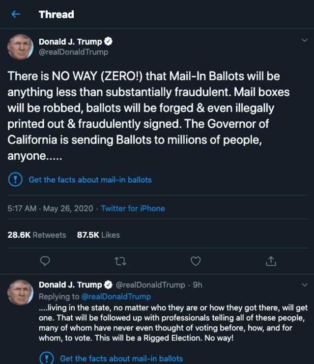 Trump tweets fact check.
