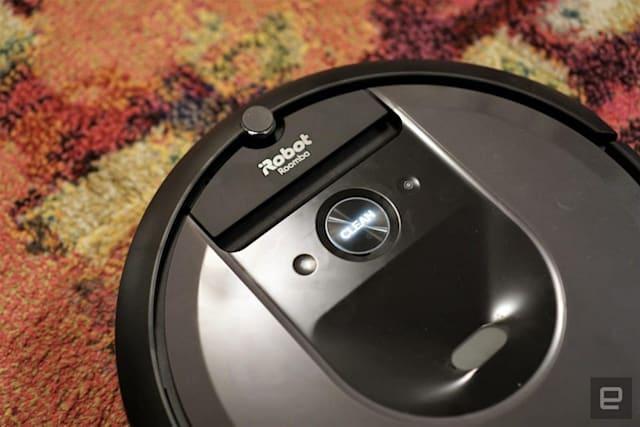 iRobot Roomba i7+ robot vacuum.