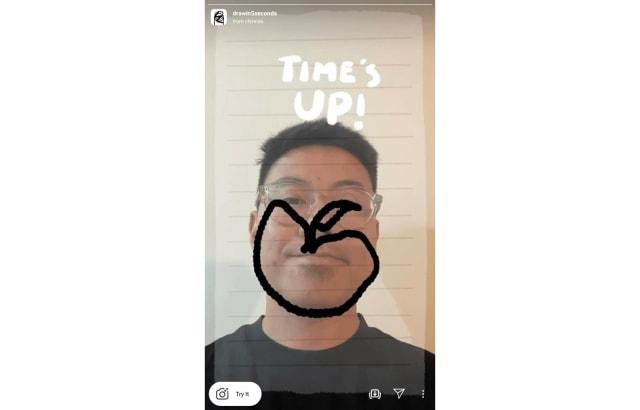 Draw Face Instagram AR effect