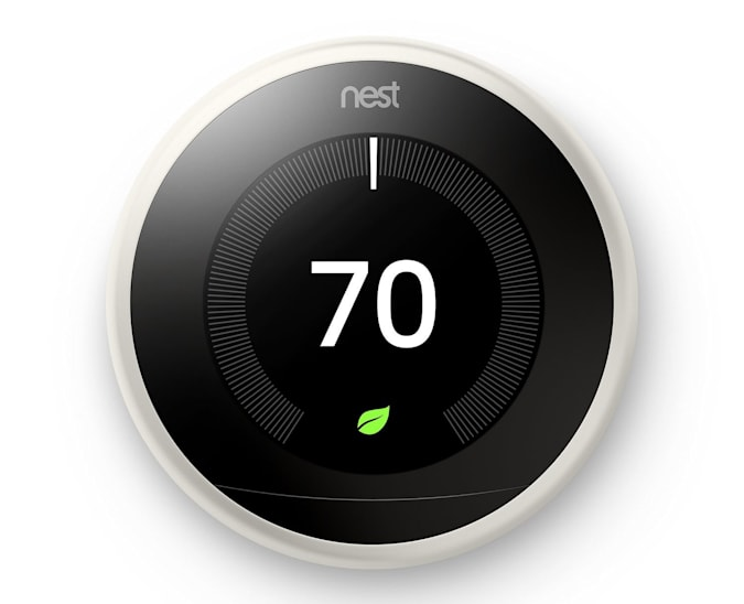 Google Nest Learning Thermostat.
