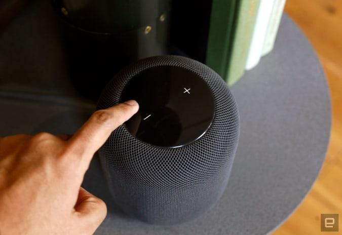 Apple HomePod smart speaker.