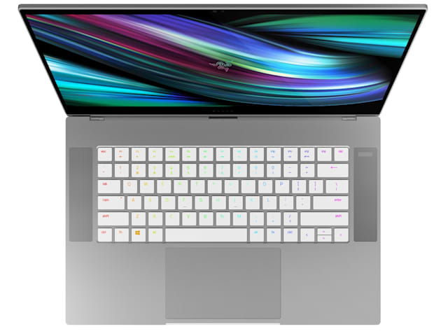 An image of the Razer Blade 15 Studio Edition's new keyboard layout.