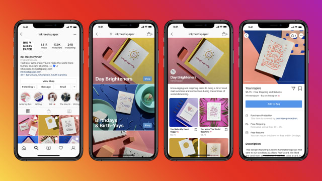 Businesses will also be able to host shops on Instagram.
