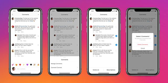 Instagram now allows users to remove up to 25 comments at once.