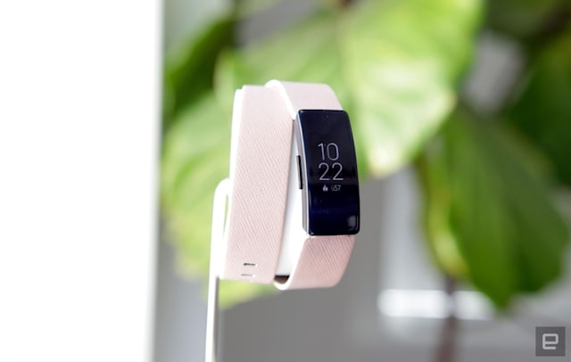 Fitbit Inspire HR fitness tracker.