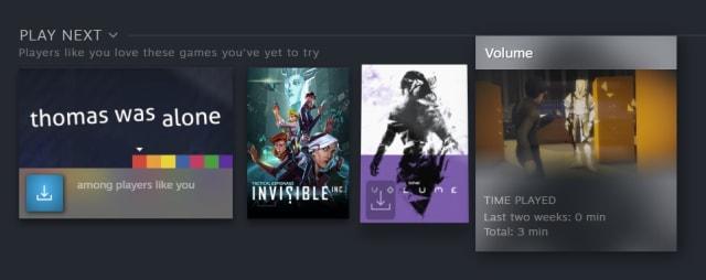 Steam 'Play Next' queue