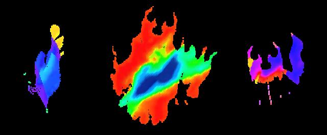 A pixel art depiction of flames