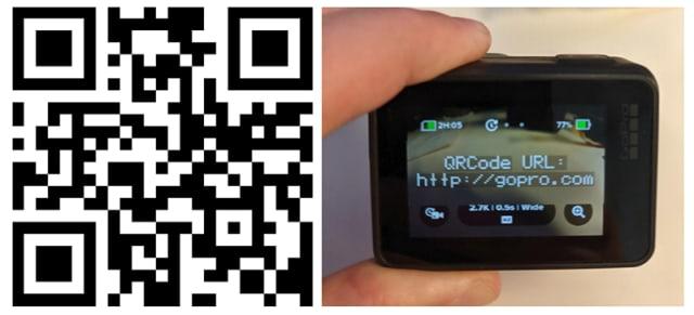 Fonctionnalités compatibles avec le code QR GoPro