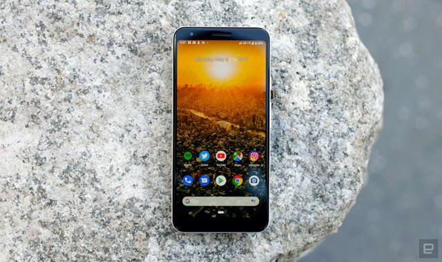 Google Pixel 3a XL smartphone.