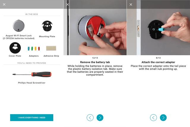 August WiFi Smart Lock installation screenshots