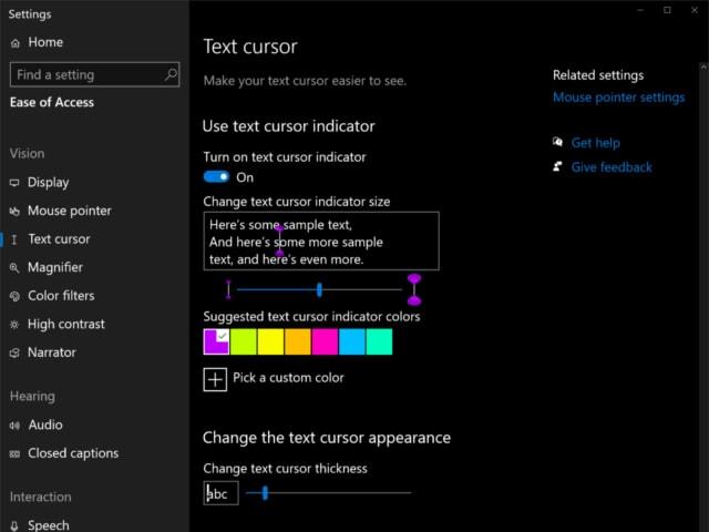 Windows 10 cursor customization