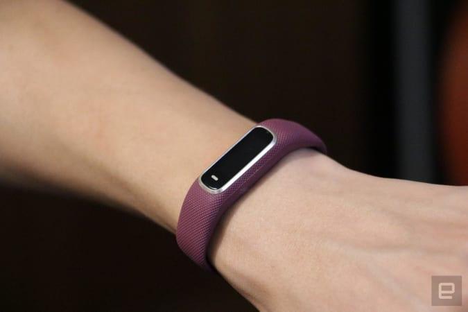 Garmin Vivosmart 4 fitness tracker.