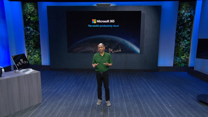 Microsoft Build 2020 Rajesh Jha discussing Microsoft 365 updates