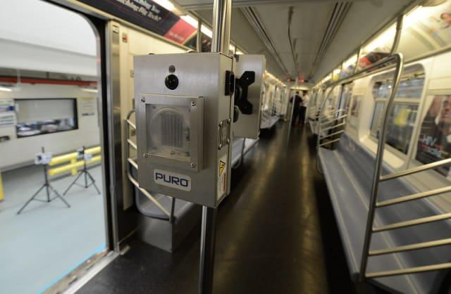 MTA installs Puro Lighting UV disinfectant devices.