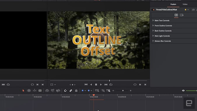 Premiere versus Resolve shootout Resolve Text+ tool