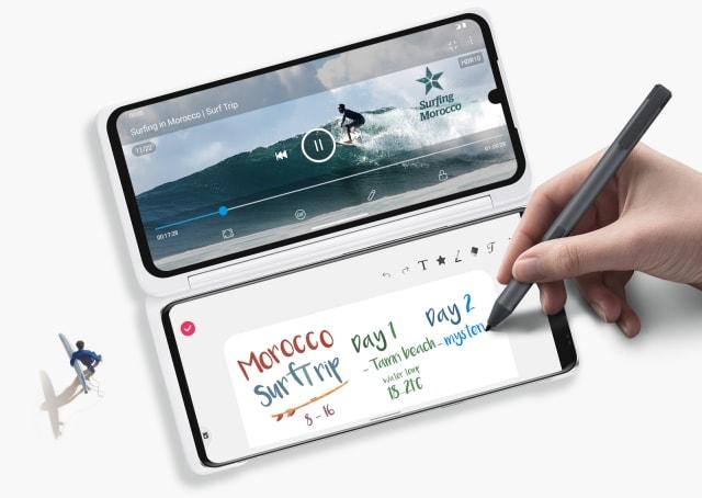 LG Velvet smartphone dual screen