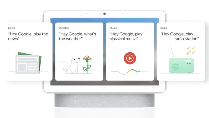 Google Nest Hub cards