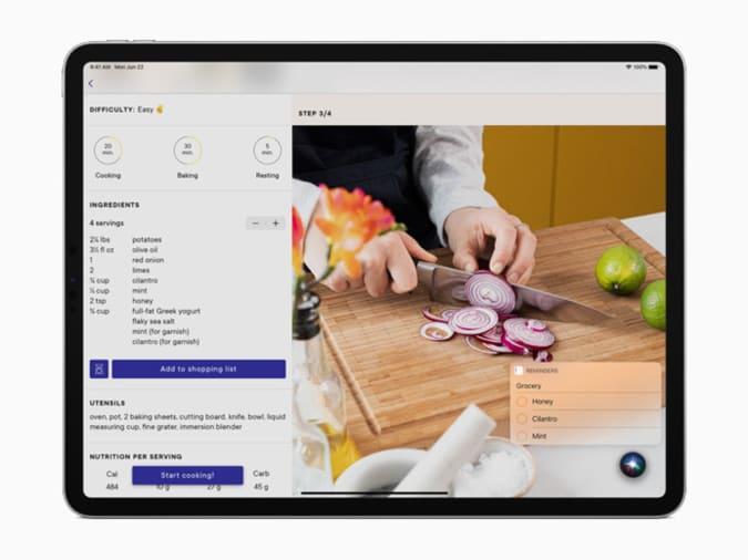 Siri Compact view iPadOS