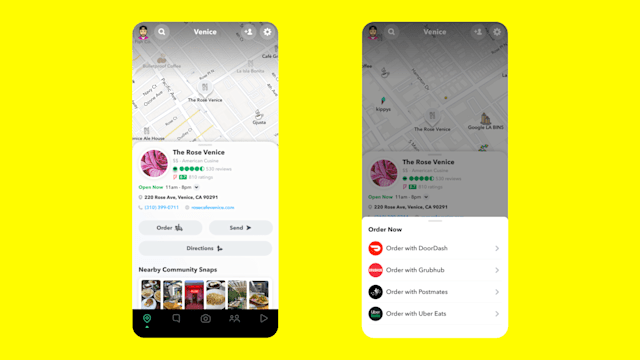 Snapchat is putting its map front and center.