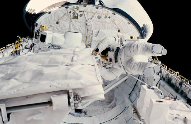 Kathy Sullivan space walk