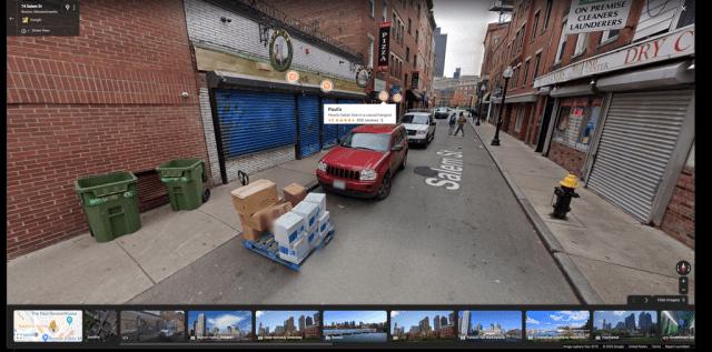 Google Street View overlay