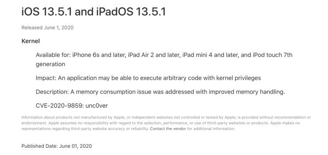Apple iOS 13.5.1