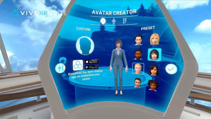 HTC Vive XR Suite avatar creator