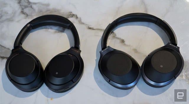 Sony's 1000XM3 (left) vs the 1000XM2