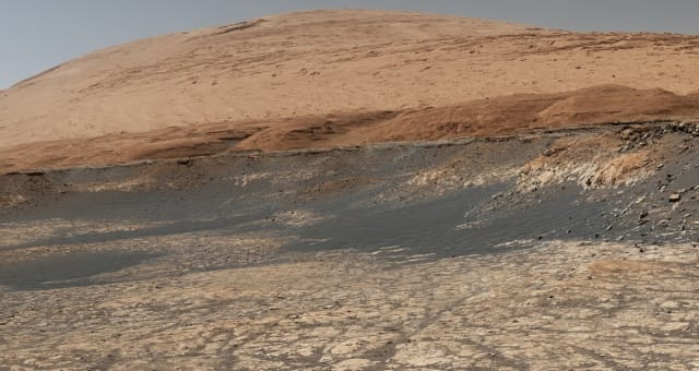 Curiosity's Path to the 'Sulfate-Bearing Unit'