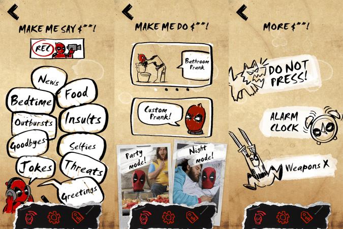 Deadpool app screenshots