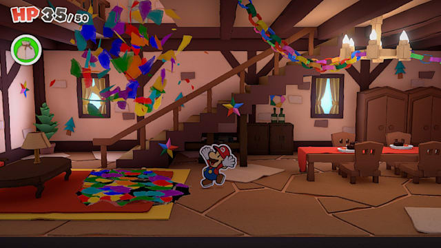 A screenshot of Paper Mario: The Origami King.