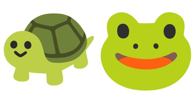 Turtle and Frog Emoji