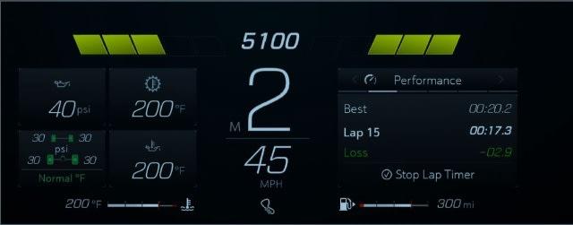 2021 Corvette tachometer