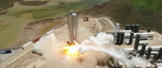 Starship test fire
