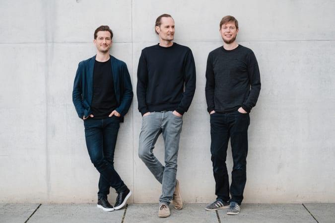 Alexander Ljung (left), Eric Quidenus-Wahlforss (center) and Christian Springub (right).