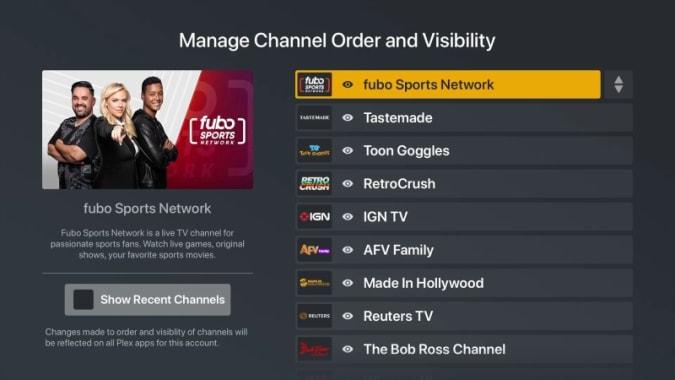 Plex free live TV streaming