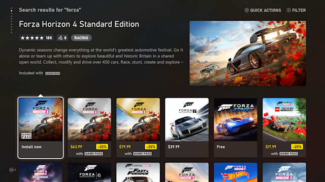 Microsoft redesigned the Xbox store ahead of Series X debut | Engadget