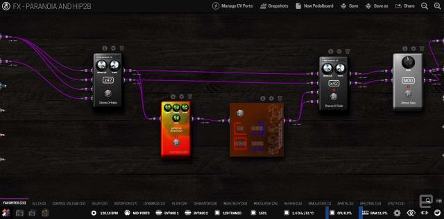 L'interface de correction basée sur le navigateur pour le MOD Duo X.