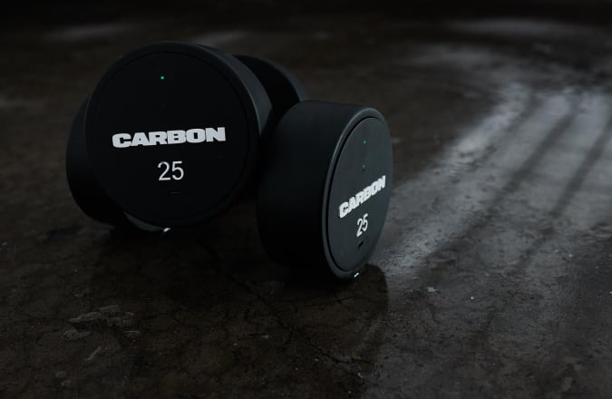 The Carbon mirror lets you see your form during guided workouts