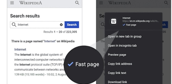 Chrome 'fast page' logo
