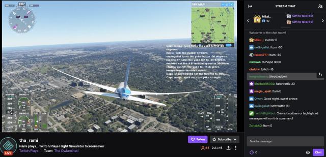Twitch Chat 'Flight Simulator'
