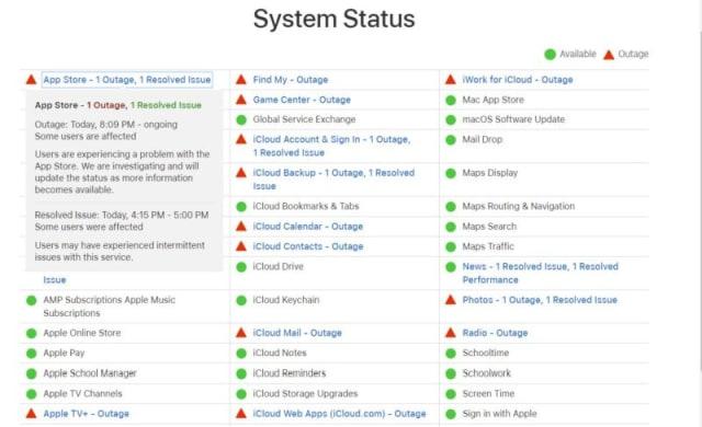Apple status