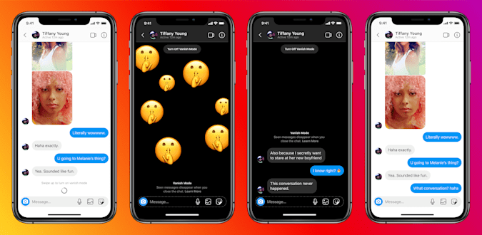 """Instagram is adding a """"vanish mode"""" for disappearing chats."""