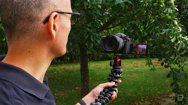 Panasonic S5 full-frame mirrorless camera flip-around display vlogging
