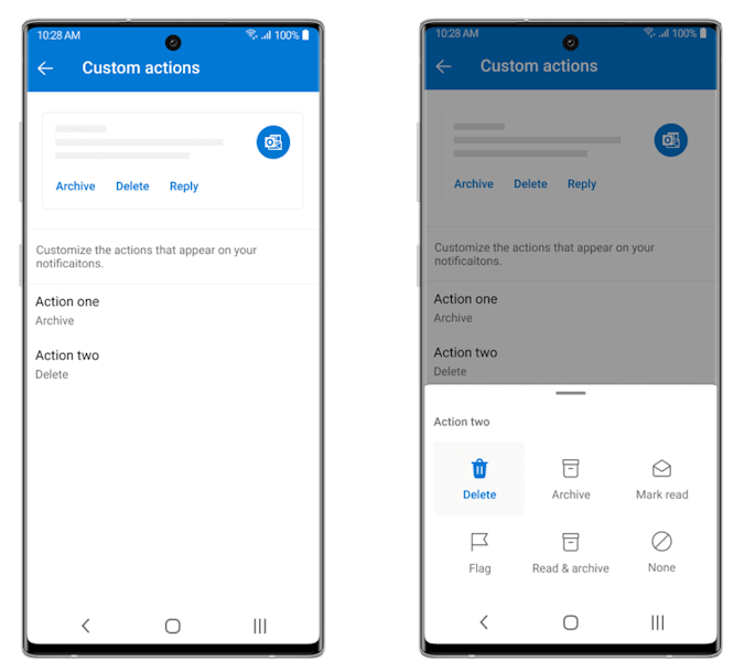 Microsoft Outlook for Android update