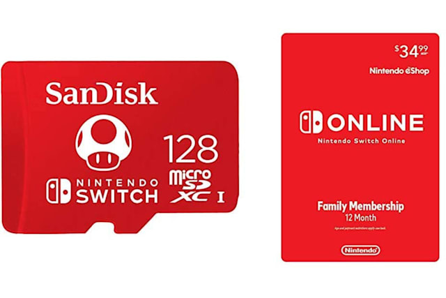 Nintendo Switch Online microSD card bundle