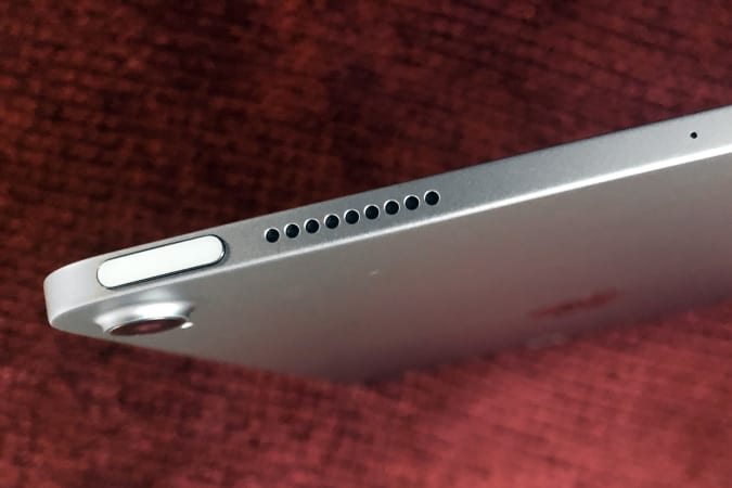The Touch ID sensor in the 2020 Apple iPad Air lives inside the lock button.